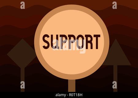Handwriting text Support. Concept meaning Give assistance help service Professional advice Assist someone. - Stock Photo