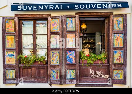 Gift shop. Kaunas, Kaunas County, Lithuania, Baltic states, Europe. - Stock Photo
