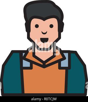 oil industry worker character vector illustration design - Stock Photo