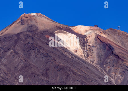 Mount Teide volcano with lava field on Tenerife in the Canary Islands - Stock Photo
