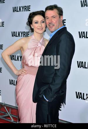 Carice Van Houten and Sebastian Koch  -  Valkirie  premiere at the Time Warner Center in New York.          -            VanHoutenCarice_SebastianKoch - Stock Photo