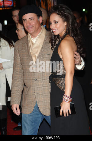 Andy Garcia and Alicia Keys arriving at the Smokin' Aces at the Chinese Theatre In Los Angeles. January 18, 2007.  3/4          -            GarciaAnd - Stock Photo