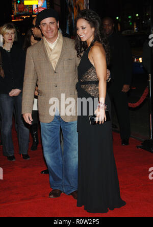 Andy Garcia and Alicia Keys arriving at the Smokin' Aces at the Chinese Theatre In Los Angeles. January 18, 2007.  eye contact full length           - - Stock Photo