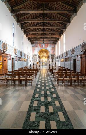 The sanctuary of the Blessed Virgin of Castelmonte, Friuli Venezia Giulia region, Italy - Stock Photo