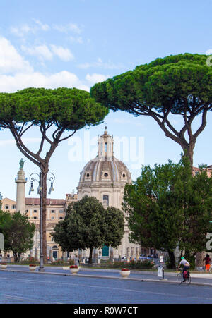 Santa Maria di Loreto in Rome Stock Photo