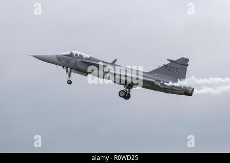 SAAB Grippen Swedish air force - Stock Photo
