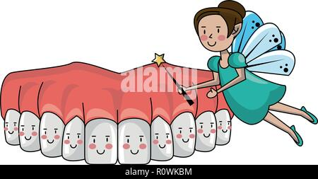dental care cartoon - Stock Photo