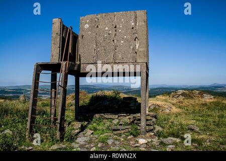 Old Royal Observer Corps Orlit B Post on Bigland Barrow, Backbarrow, Cumbria, Lake District - Stock Photo