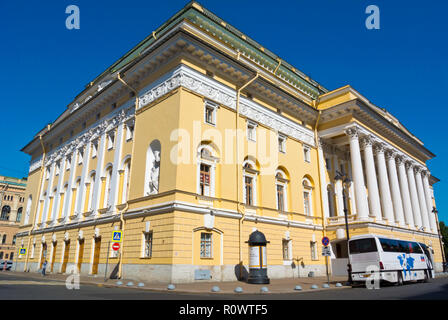 Alexandrinsky Theatre, Saint Petersburg, Russia - Stock Photo
