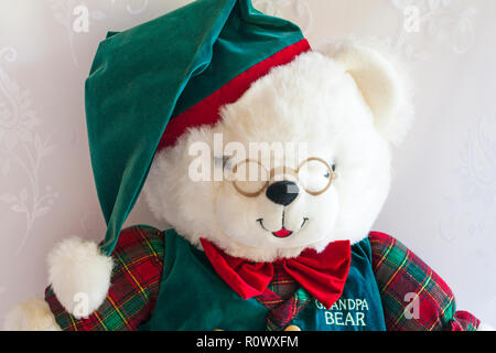 Grandpa Bear teddy bear soft cuddly toy by DanDee - one of Grandparents Limited Edition teddies - Stock Photo