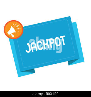 text sign showing jackpot conceptual photo large cash prize in game
