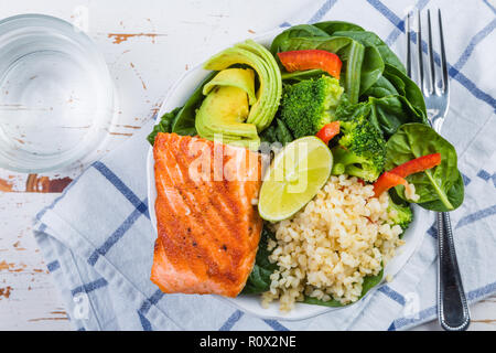Buddha bowl - balanced meal - Stock Photo
