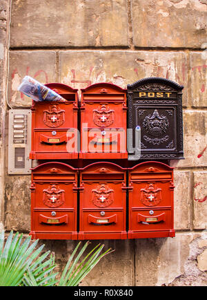 Swiss Guards mailboxes in Rome - Stock Photo