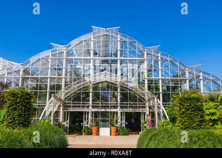 England, Surrey, Guildford, Wisley, The Royal Horticultural Society Garden, The Glasshouse - Stock Photo