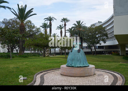 Empress Sissi statue in Funchal, Madeira - Stock Photo
