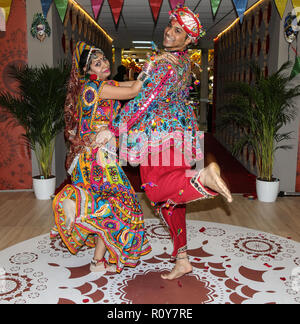 London, UK. 7th Nov 2018. London UK 07 Nov 2018  The wonderful colors of Rajasthan at the Incredible India stand in the WTM London 2018@Paul Quezada-NeimanFrom Credit: Paul Quezada-Neiman/Alamy Live News Stock Photo
