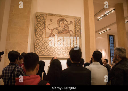 Beirut Lebanon. 8th November 2018. A few foreign visitors trickle to visit the National Museum of Beirut which houses antiquities from the Phoenician, Roman Byzantine and Ottoman Periods Credit: amer ghazzal/Alamy Live News - Stock Photo