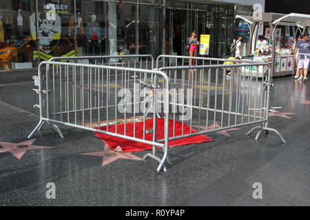 Donald Trump Walk of Fame star vandalized in Hollywood - Stock Photo