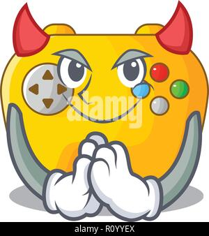 Devil Video game controller shaped on charcter - Stock Photo