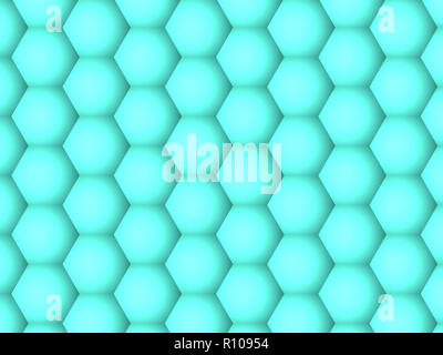 Abstract background, gradient geometric motion green hexagons pattern - Stock Photo