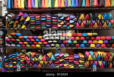The Straw Market in Florence, Italy Europe - Stock Photo