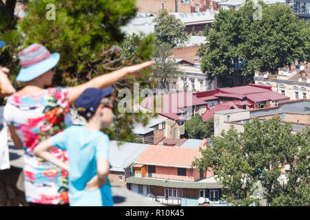 View of Tbilisi Old town Sololaki old town - Stock Photo