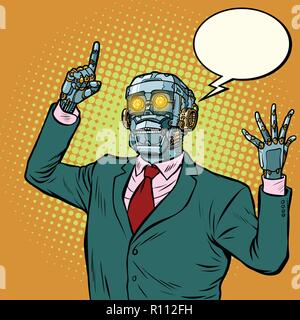 emotional speaker robot, dictatorship of gadgets - Stock Photo