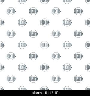 Nose piercing pattern vector seamless - Stock Photo