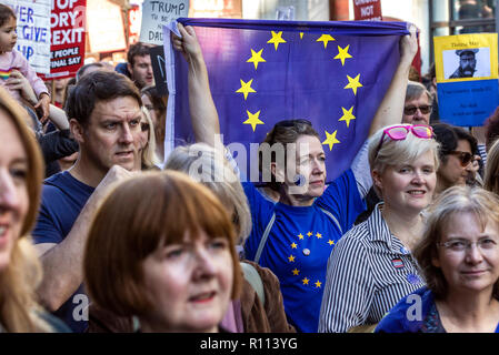 London, UK. 20th October, 2018. People's Vote march for new Brexit referendum. - Stock Photo