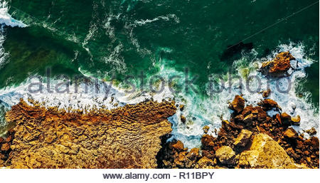 High angle view of rocks on the beach - Stock Photo