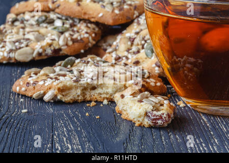 Homemade cookies with seed and nuts - Stock Photo