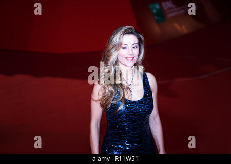 Rome, Italy. 18th October, 2018. Guests attending the red carpet at the 13th Rome Film Fest at the Auditorium Parco della Musica. - Stock Photo
