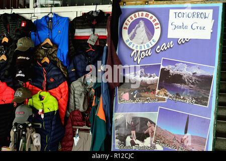 Tour operator - Market in HUARAZ. Department of Ancash.PERU                     - Stock Photo