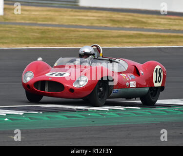 Barry Cannell, Anthony Ditheridge, Cooper T49 Monaco, Stirling Moss Trophy, pre-61 sports cars, Silverstone Classic, July 2018, Silverstone, Northampt - Stock Photo