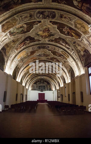 Inside the monumental complex of San Lorenzo - Naples, Campania, Italy - Stock Photo