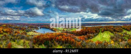 Kensington Metropark Aerial, Milford, Michigan, USA - Stock Photo