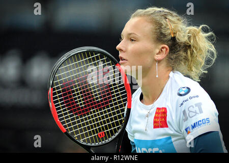 Prague, Czech Republic. 8th Nov, 2018. Katerina Siniakova of the Czech Republic during practice ahead of the 2018 Fed Cup Final between the Czech Republic and the United States of America in Prague in the Czech Republic. The Czech Republic will face United States in the Tennis Fed Cup World Group on 10 and 11 November 2018. Credit: Slavek Ruta/ZUMA Wire/Alamy Live News - Stock Photo