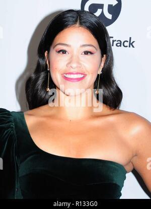 Los Angeles, California, USA. 8th November, 2018. Actress Gina Rodriguez attends the Eva Longoria Foundation Annual Dinner on November 8, 2018 at Four Season Beverly Hills in Beverly Hills, California. Photo by Barry King/Alamy Live News - Stock Photo
