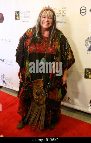 Westbury, New York, USA. 8th Nov 2018. Singer Melanie Safka attends the 2018 Long Island Music Hall of Fame induction ceremony at The Space at Westbury on November 8, 2018 in Westbury, New York. Credit: AKPhoto/Alamy Live News - Stock Photo