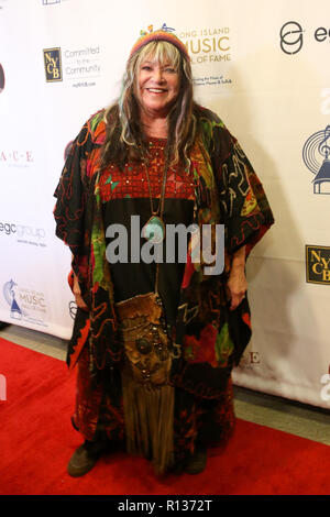 Westbury, United States. 08th Nov, 2018. WESTBURY, NY - NOV 8: Singer Melanie Safka attends the 2018 Long Island Music Hall of Fame induction ceremony at The Space at Westbury on November 8, 2018 in Westbury, New York. Credit: The Photo Access/Alamy Live News - Stock Photo