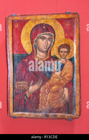 The Holy Virgin Hodegetria, The Daut Pasha Hamam (Contemporary Art Gallery), Old Bazaar, Skopje, Skopje Region, Republic of North Macedonia - Stock Photo