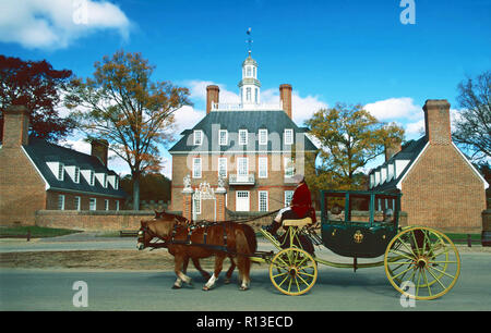Governor's Palace,Colonial Williamsburg,Virginia - Stock Photo