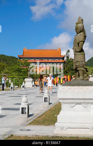 Po Lin Monastery, Ngong Ping, Lantau, Hong Kong - Stock Photo