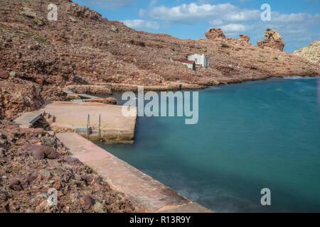Cala Morell, Menorca, Balearic Islands, Spain, Europe - Stock Photo
