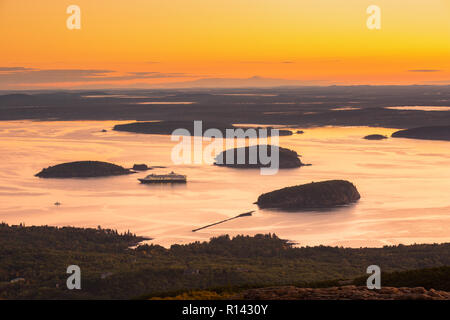 Dawn in Acadia National Park - Stock Photo