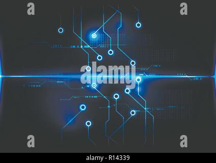 Abstract digital technology operation board concept background vector design - Stock Photo