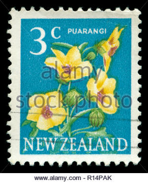 Postmarked stamp from New Zealand in the Pictorial Definitives series issued in 1967 - Stock Photo