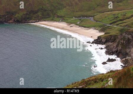 Keem Beach in Achill Island, Ireland - Stock Photo