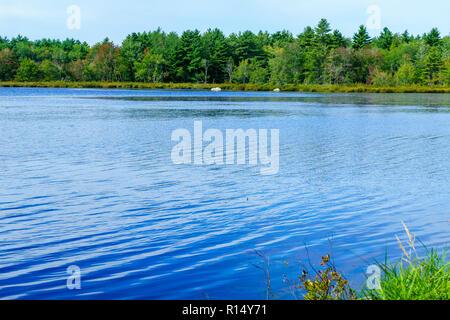 View of the Snake Lake, in Kejimkujik National Park, Nova Scotia, Canada - Stock Photo