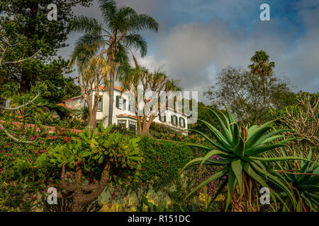 Herrenhaus, Botanischer Garten, Funchal, Madeira, Portugal - Stock Photo